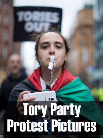 Manchester Conservative Party Conference Protest Photos
