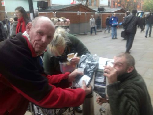 Click to view Calvin Klein socks for Salford homeless