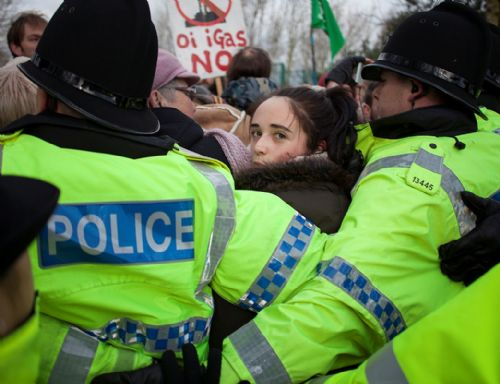 Click to view Barton Moss anti-fracking protest