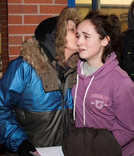 Click to view Saffron and Mum After Release From Swinton Police Station