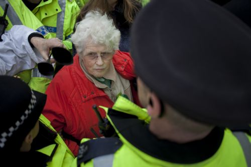 Click to view Barton Moss Anti-fracking protest Salford