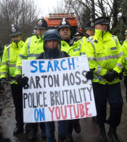 Click to view Barton Moss Anti Fracking Protests