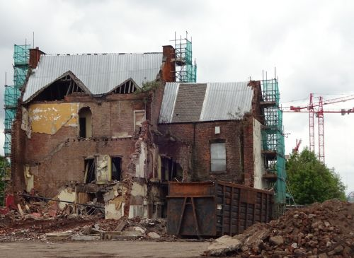 Click to view Black Horse pub Salford demolished