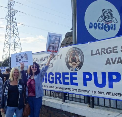 Click to view Boycott Dogs4Us Protest Salford