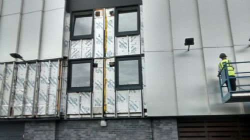 Click to view Cladding being taken down on Whitebeam Court
