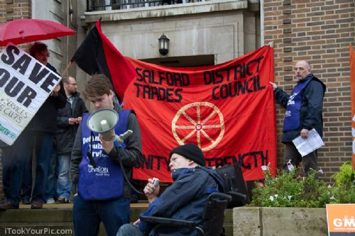 Click to view Salford Town Hall Demo September 29th 2010