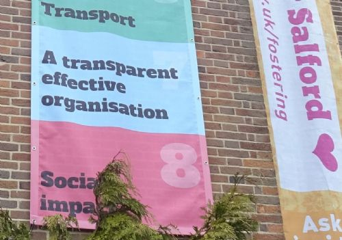 Click to view Salford Council 'transparency' banner