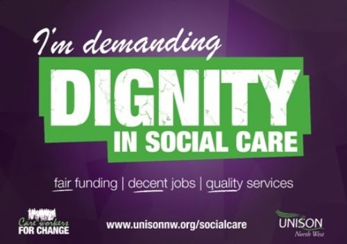 Click to view UNISON Dignity in Social Care campaign