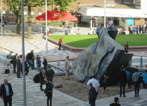 Click to view Engels Beard sculpture Salford University