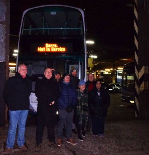 Click to view First Bus drivers strike support protest at Queens Road depot