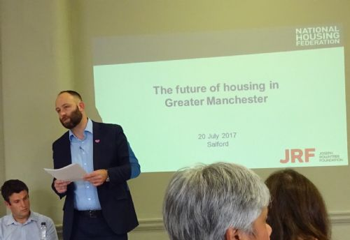 Click to view Salford Mayor Paul Dennett at future of GM Housing Conference