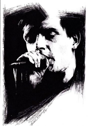 Click to view Ian Curtis by Brian Gorman