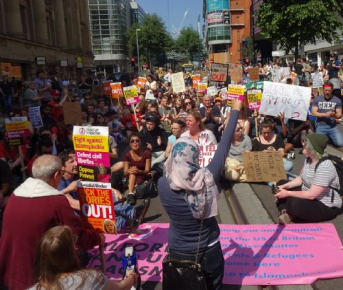 Click to view Manchester Justice For Grenfell Protest