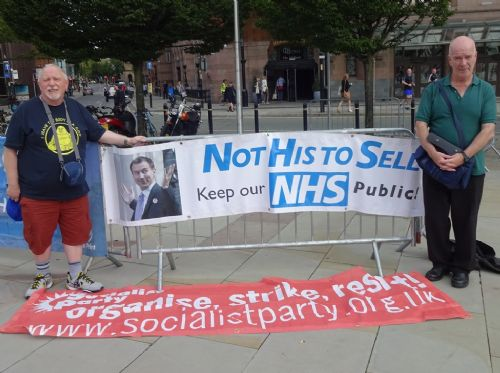 Click to view NHS Expo Protest Manchester