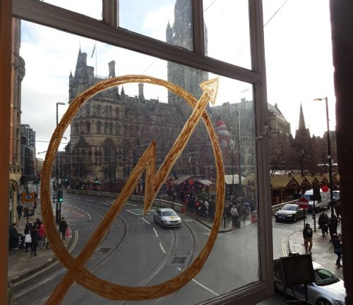 Click to view Squat Opens Up Facing Manchester Town Hall