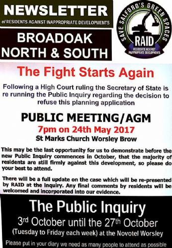 Click to view RAID Public Meeting Worsley