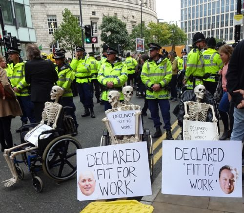 Click to view Disabled People Against Cuts Protest at Conservative Party Conference
