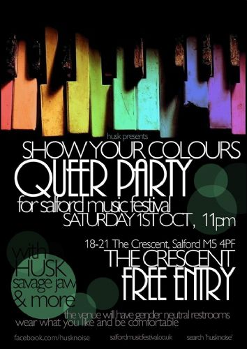 Click to view Salford Music Festival Queer Party