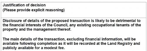 Click to view Salford Council disclosure notice