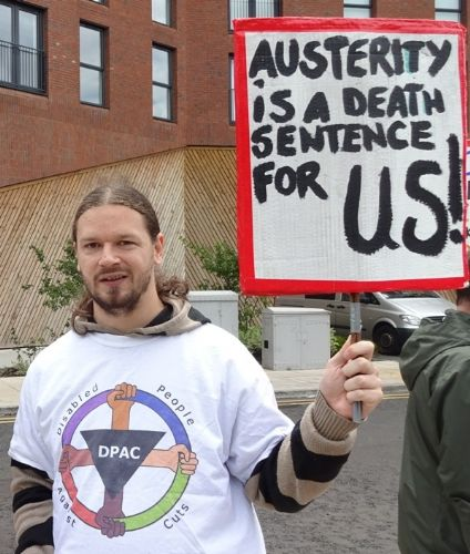 Click to view Disabled People Against Cuts Protest
