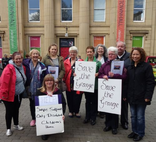 Click to view Save The Grange campaign at Salford May Day