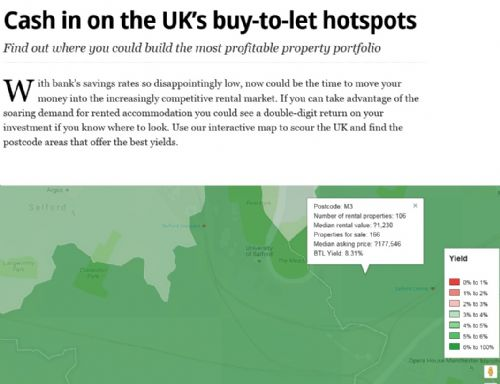 Click to view Interactive Buy To Let Cash-in Map
