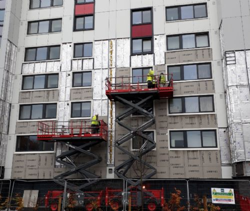 Click to view Salford high rise cladding
