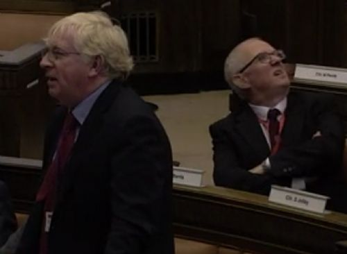 Click to view Salford City Council Meeting Disrupted by Protest