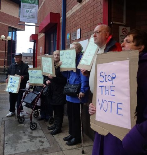 Click to view Salix Homes Protest Salford