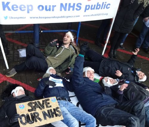 Click to view NHS Die-in at MRI