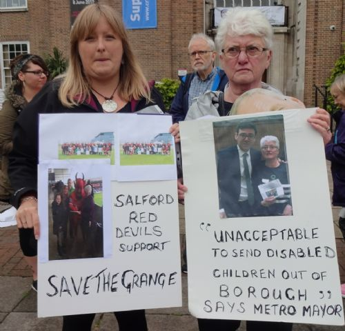 Click to view Save The Grange 3,500 signature petition handover to Salford Mayor