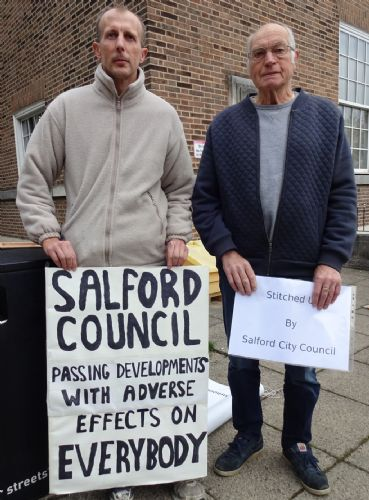 Click to view Saving Our Neighbourhood protests in Salford