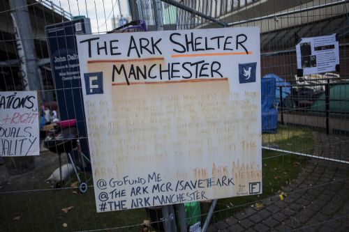 Click to view The Ark 2 Manchester Homeless Camp