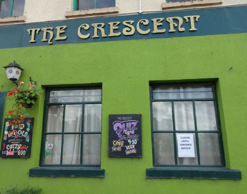 Click to view The Crescent pub Salford 'Closed Until Further Notice'