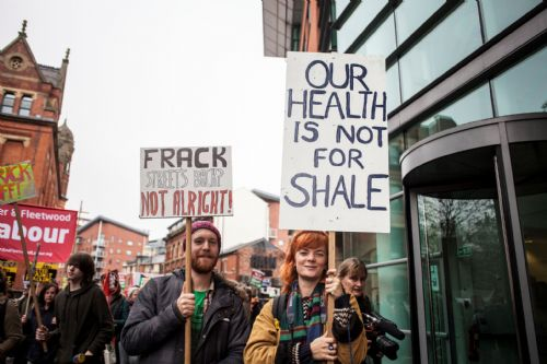 Click to view 2,500 people United Against Fracking in Manchester