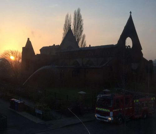 Click to view Fire at The Church of the Ascension Salford