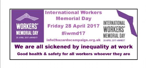 Click to view International Workers' Memorial Day 2017