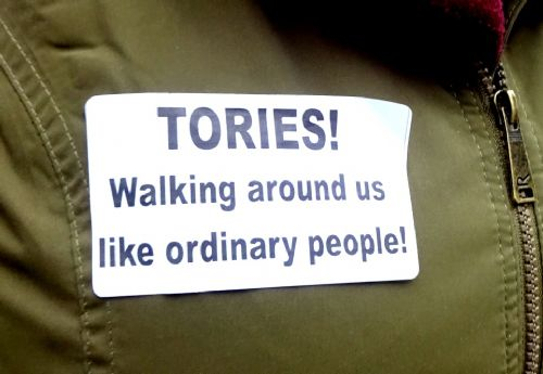 Click to view Disabled People Against Cuts wall of noise protest Manchester Conservative Party Conference