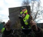 Barton Moss Anti-fracking protest Salford