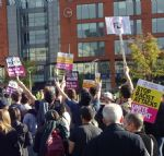 Protesters oppose EDL in Manchester