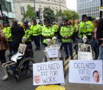 Disabled People Against Cuts Protest at Conservative Party Conference