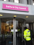 Protest at Salford Civic Centre