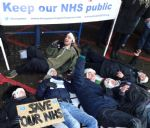NHS Die-in at MRI