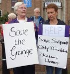 Save The Grange 3,500 signature petition handover to Salford Mayor