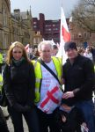 Catherine Tyldesley and Jamie Moore on the march to Save St George's